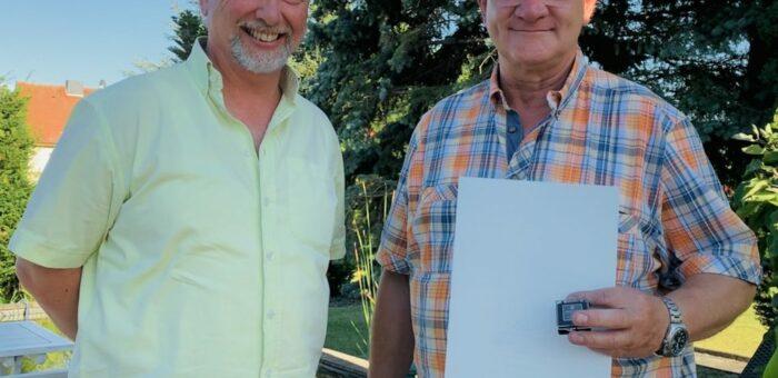 Ehrennadel des Landessportbundes für Olaf Schreiber